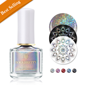 Born Pretty Stamping Nail Polish Holographic Silver Laser - BP-FHS01 Starry Star