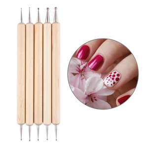 Born Pretty 5Pcs 2 Way Wooden Dotting Pen