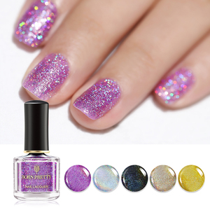 Born Pretty Nail Lacquer Holographic Laser Rainbow - BP-RH01 Purple Seduction