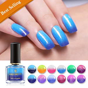 Born Pretty Nail Lacquer Glitter Color Changing Peel Off Thermal - BP-LD01 Flipped Heart
