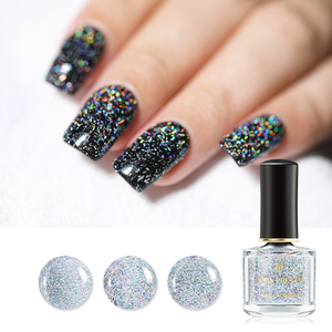 Born Pretty Nail Lacquer Holographic Sequins Top Coat
